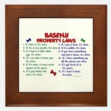 Basenji Property Laws 2 Framed Tile