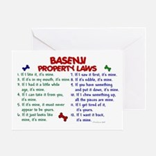 Basenji Property Laws 2 Greeting Card