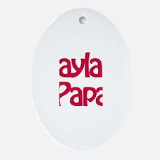 Kayla's Papa Oval Ornament