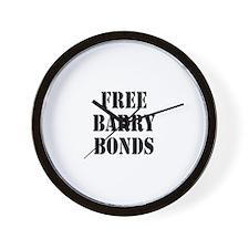 free barry bonds Wall Clock