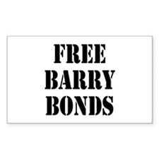 free barry bonds Rectangle Decal