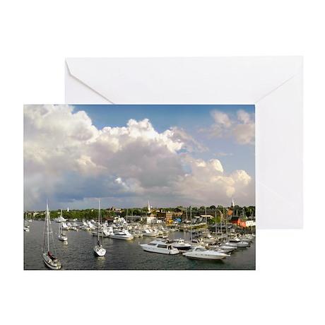 Newburyport Harbor 2007 Greeting Card
