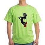 Kokopelli Skateboard Green T-Shirt