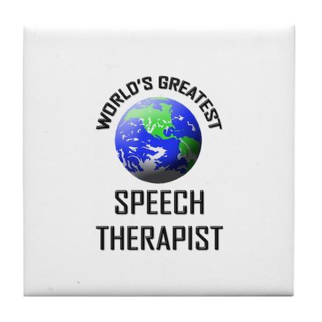 World's Greatest SPEECH THERAPIST Tile Coaster