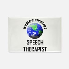 World's Greatest SPEECH THERAPIST Rectangle Magnet