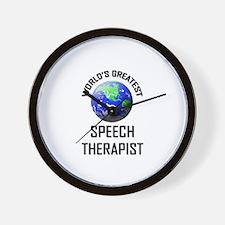 World's Greatest SPEECH THERAPIST Wall Clock