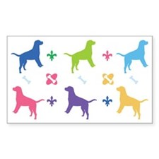 Labrador Retriever Designer Rectangle Decal
