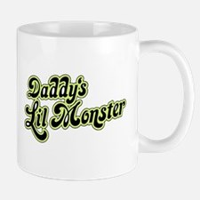Humorous Text - Daddy's Little Monster Gr Mugs
