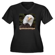 Blahblahblah Women's Plus Size V-Neck Dark T-Shirt