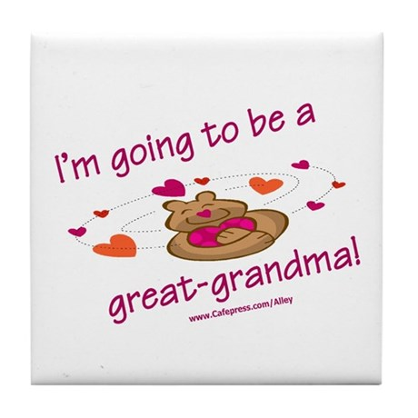 Great Grandma To Be Tile Coaster
