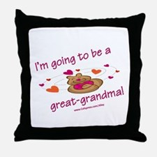Great Grandma To Be Throw Pillow