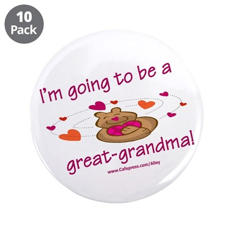 """Great Grandma To Be 3.5"""" Button (10 pack)"""