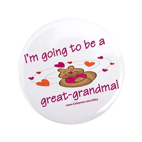 """Great Grandma To Be 3.5"""" Button (100 pack)"""