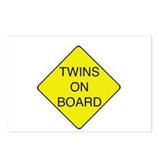Twins on Board Postcards (Package of 8)