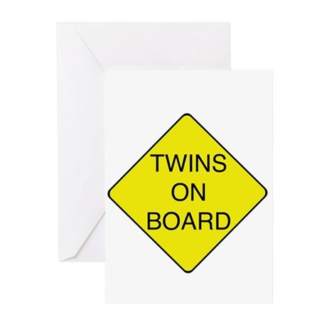 Twins on Board Greeting Cards (Pk of 10)