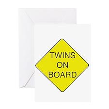 Twins on Board Greeting Card