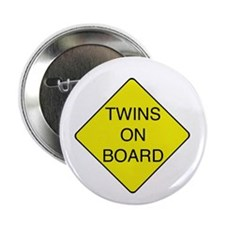 """Twins on Board 2.25"""" Button"""