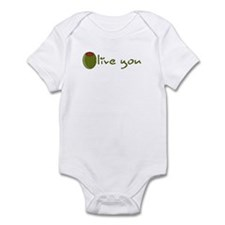 Olive you Infant Bodysuit
