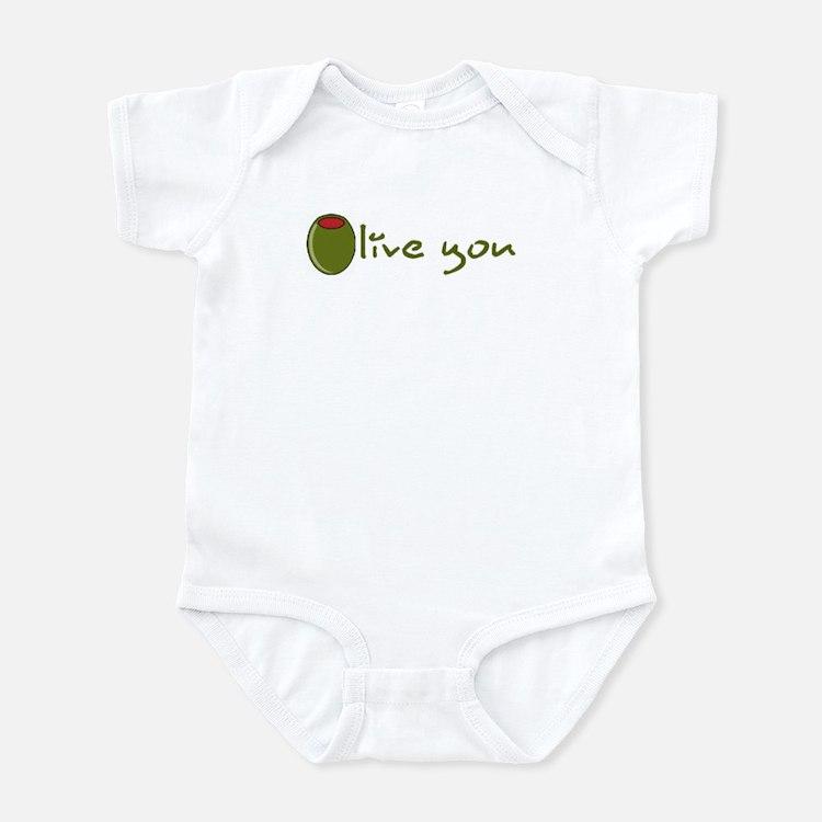 Olive you Infant Bodysuit