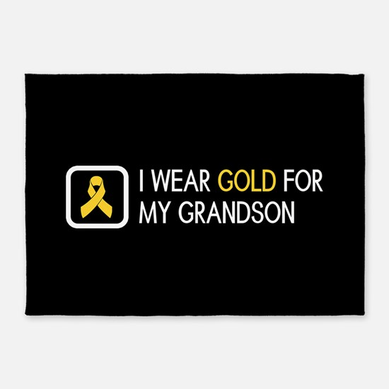 Childhood Cancer: Gold For My Grand 5'x7'Area Rug
