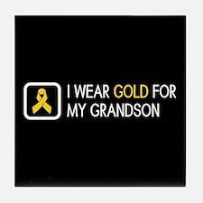 Childhood Cancer: Gold For My Grandso Tile Coaster