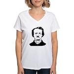 edgar allen poe Women's V-Neck T-Shirt