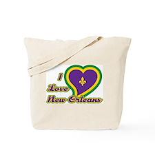 I Love New Orleans Tote Bag