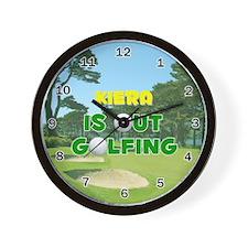 Kiera is Out Golfing - Wall Clock