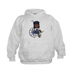 Katy Broken Right Leg Kids Hoodie