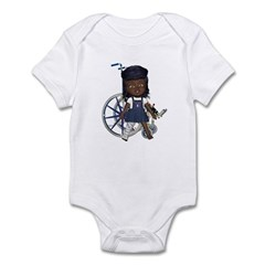 Katy Broken Right Leg Infant Bodysuit