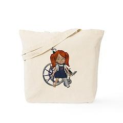 Kit Broken Left Leg Tote Bag