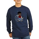 Keith Broken Left Arm Long Sleeve Dark T-Shirt