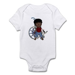 Keith Broken Left Arm Infant Bodysuit