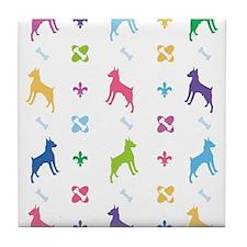 Minature Pinscher Designer Tile Coaster