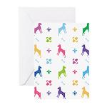 Minature Pinscher Designer Greeting Cards (Pk of 2
