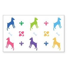 Minature Pinscher Designer Rectangle Decal