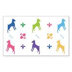Minature Pinscher Designer Rectangle Sticker