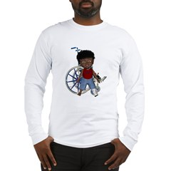 Keith Broken Left Leg Long Sleeve T-Shirt
