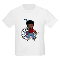 Keith Broken Right Leg Kids Light T-Shirt