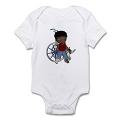 Keith Broken Right Leg Infant Bodysuit