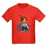 Kevin Broken Left Arm Kids Dark T-Shirt