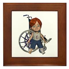 Kevin Broken Left Leg Framed Tile