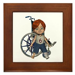 Kevin Broken Left Leg Framed Tile