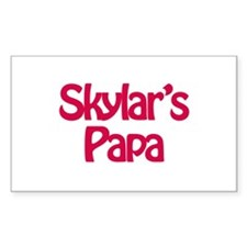 Skylar's Papa Rectangle Bumper Stickers