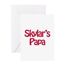 Skylar's Papa Greeting Card