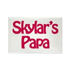Skylar's Papa Rectangle Magnet