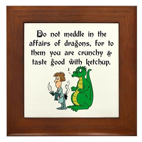 The Affairs of Dragons Framed Tile