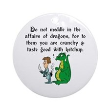 The Affairs of Dragons Ornament (Round)