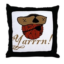 Yarrrn Throw Pillow