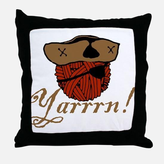 Yarrrn Throw Pillow